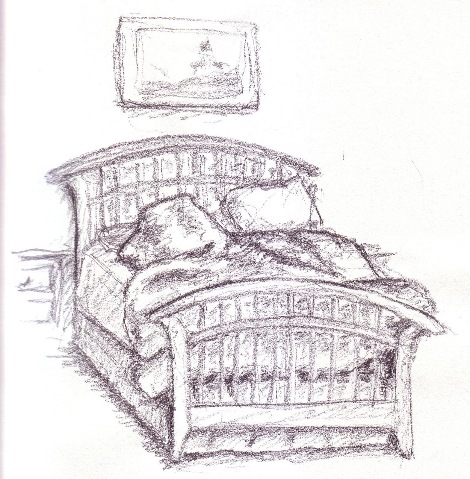 Drawn bed Seminar unmade BangDodo Unmade template