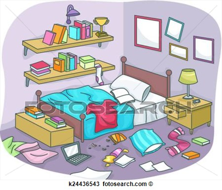 Room clipart messy bedroom #1