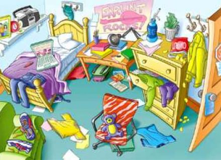 Clipart in room Clipart messy