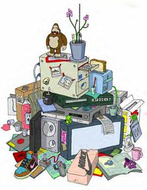 Room clipart cluttered room #3