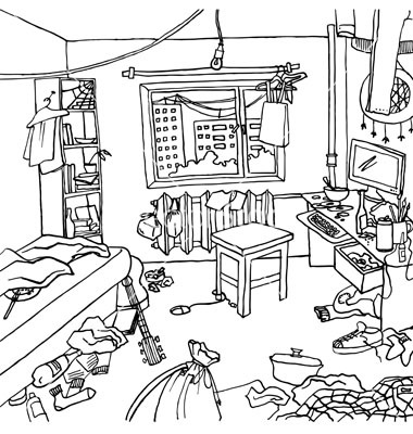 Drawn room messy Clip Cliparts Messy Room Art