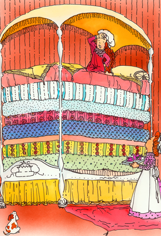 Bed clipart princess and the pea Bedding: Best Fairytale Whistler Hans