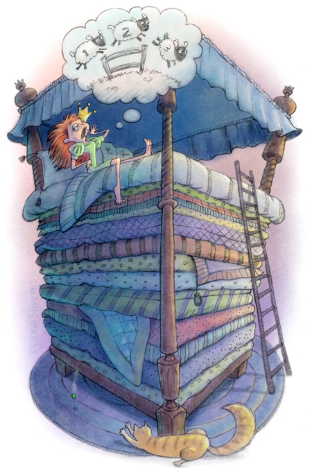 Bed clipart princess and the pea Princess Still TheDoodleDiner and the