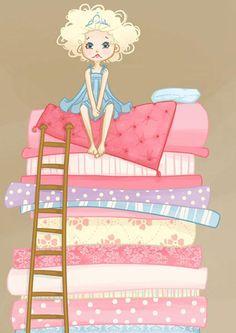 Bed clipart princess and the pea Digital Mama 50 Art Illustration