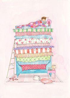 Bed clipart princess and the pea Princess