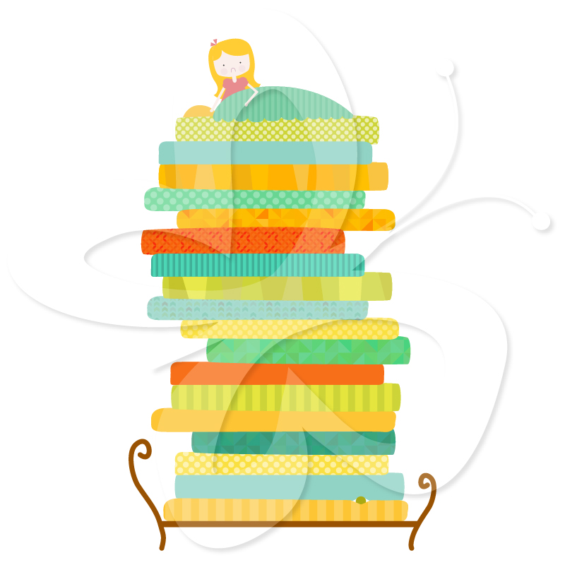 Bed clipart princess and the pea Princess The The the Clip