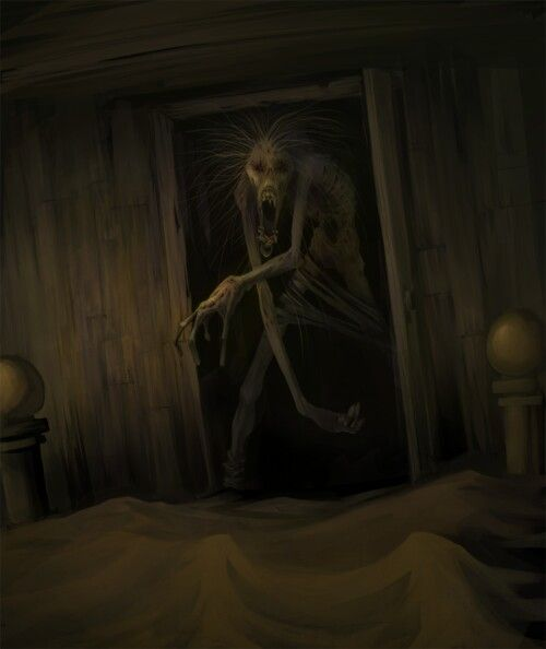 Bed clipart scared the dark In on Dream under Monsters