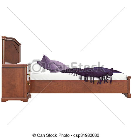 Bed clipart side view Drawings csp31980030 3D isolated graphic