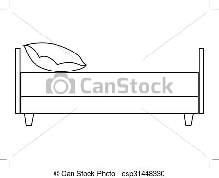 Bed clipart side view Bed of side  view