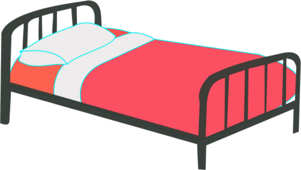 Bed clipart single bed Bed Zone Cliparts Cliparts Single