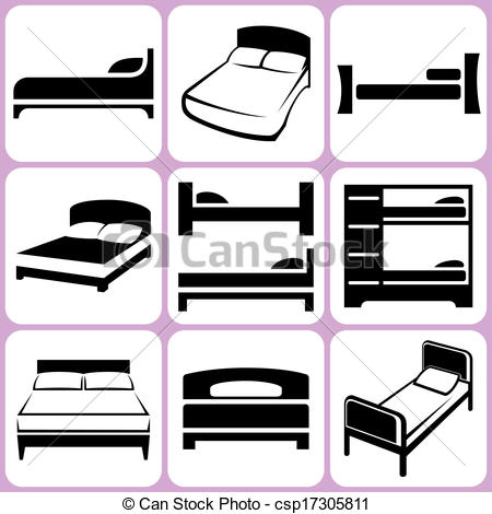 Bed clipart single bed Icons  Bed Set Bed