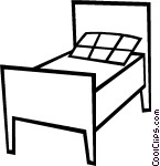 Bed clipart single bed Bed Single Clip greyscale bed