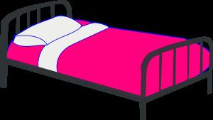 Bed clipart single bed Clipart: Clipart Clipart Pink Clip