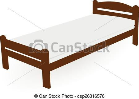Bed clipart single bed Wood 718 EPS bed art