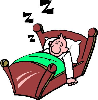 Bed clipart sleepy person In Bed Clipart Sleeping Clipart