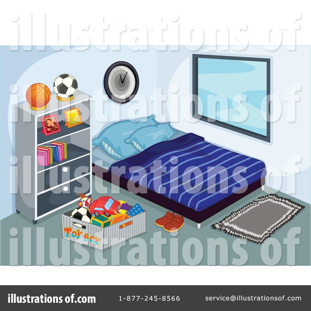 Bedroom clipart illustration Clip Room Bed Art Clean