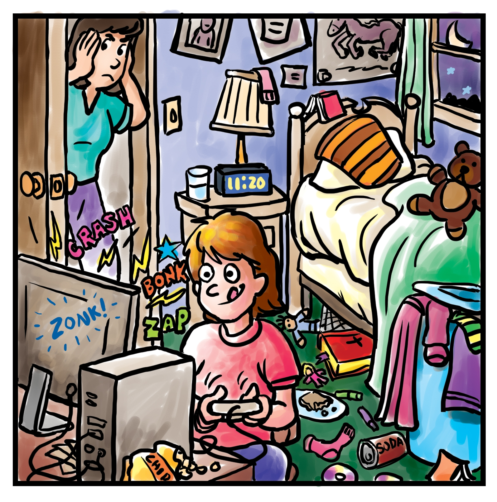 Room clipart mess #7