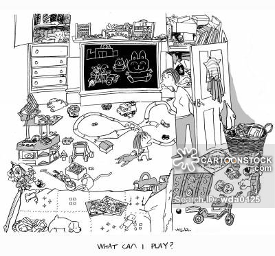 Room clipart cluttered room #4