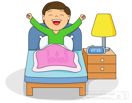 Boy clipart wakes up Buscar Buscar I con up