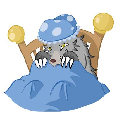 Wolf clipart bed In she Reads her of