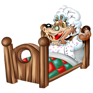 Wolf clipart bed In Images Cartoon Clip Picture