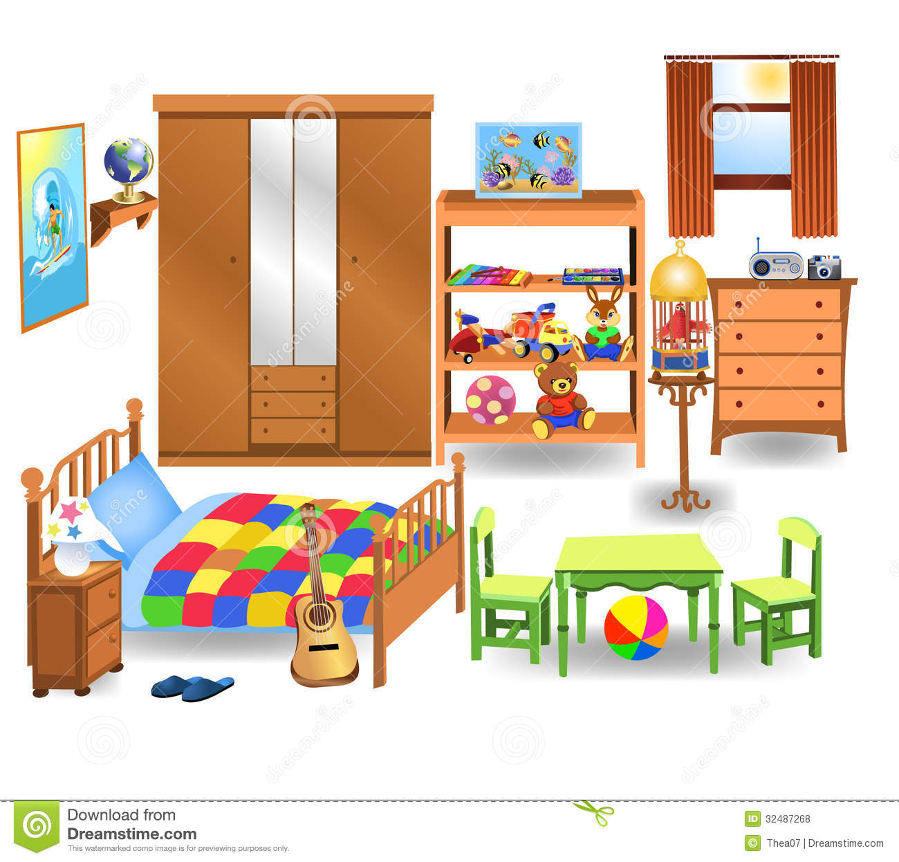 Bedroom clipart #8
