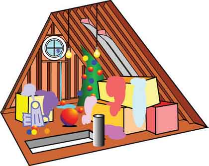 Bedroom clipart attic #8