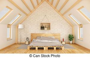 Bedroom clipart attic Pallet Bedroom royalty and Attic
