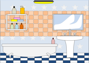 Bathroom clipart taps Bathroom Clker vector clip Bathroom