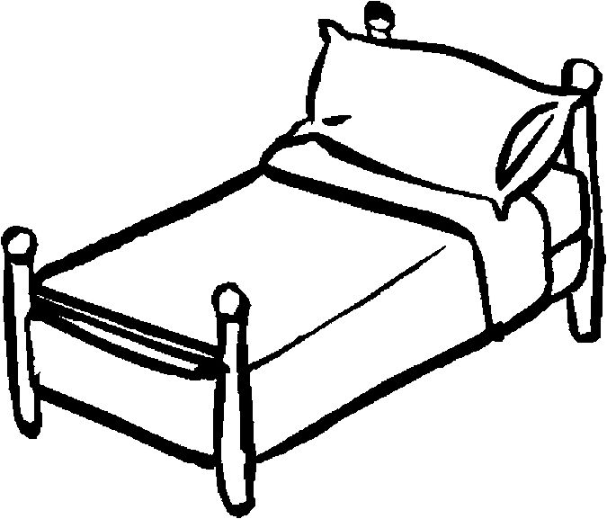 Bedroom clipart colouring #9