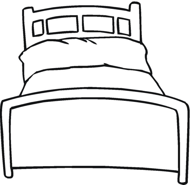 Bedroom clipart colouring #13