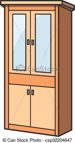 Bedroom clipart cupboard Vector cartoon EPS csp32204647 cartoon