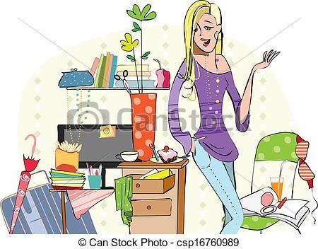 Bedroom clipart disorganized Disorganized 89925 IMGFLASH Clipart Clipart