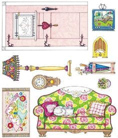 Bedroom clipart doll house #10