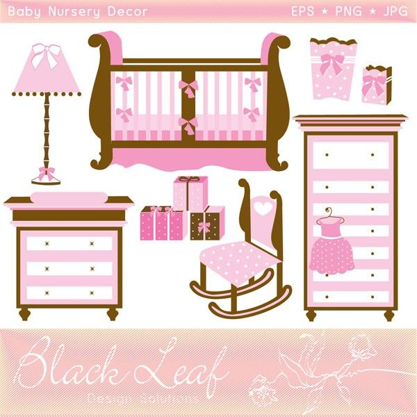Bedroom clipart doll house #9