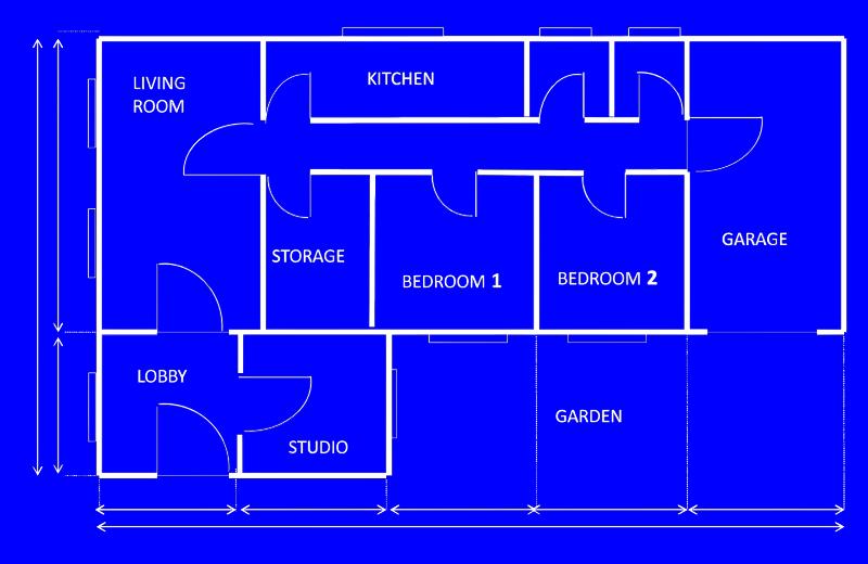 Bedroom clipart house blueprint #10