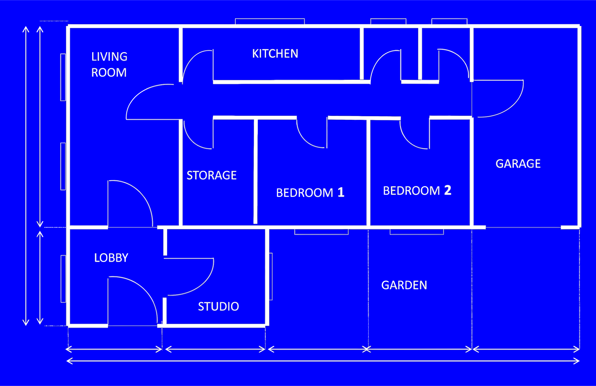 Bedroom clipart house blueprint #7