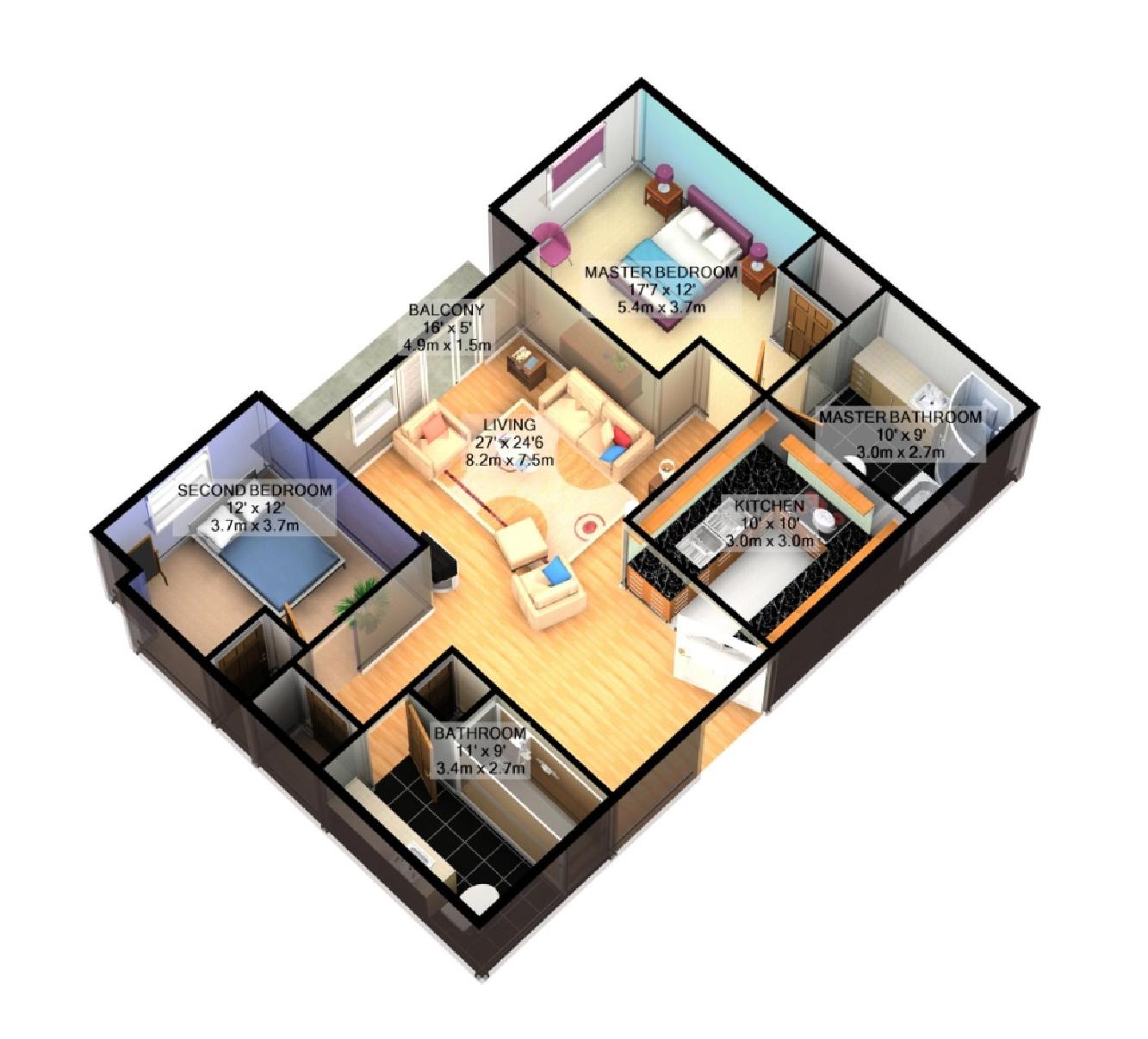 Bedroom clipart house blueprint #9