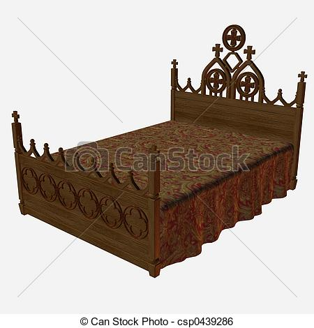 Bedroom clipart medieval  csp0439286 Stock Illustration Search