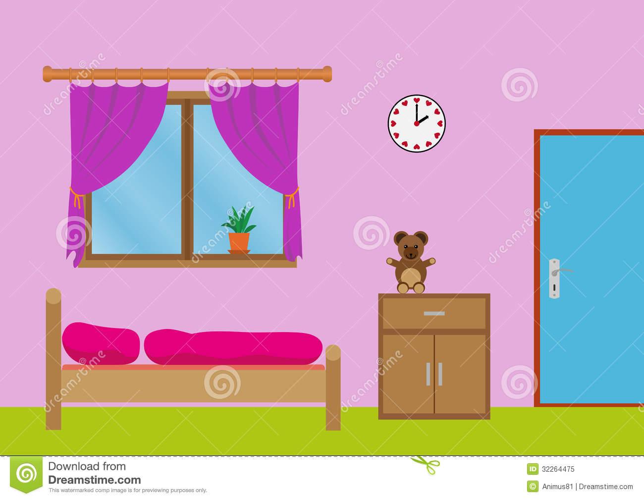 Bedroom clipart room wall Room Clipart My Panda Clipart