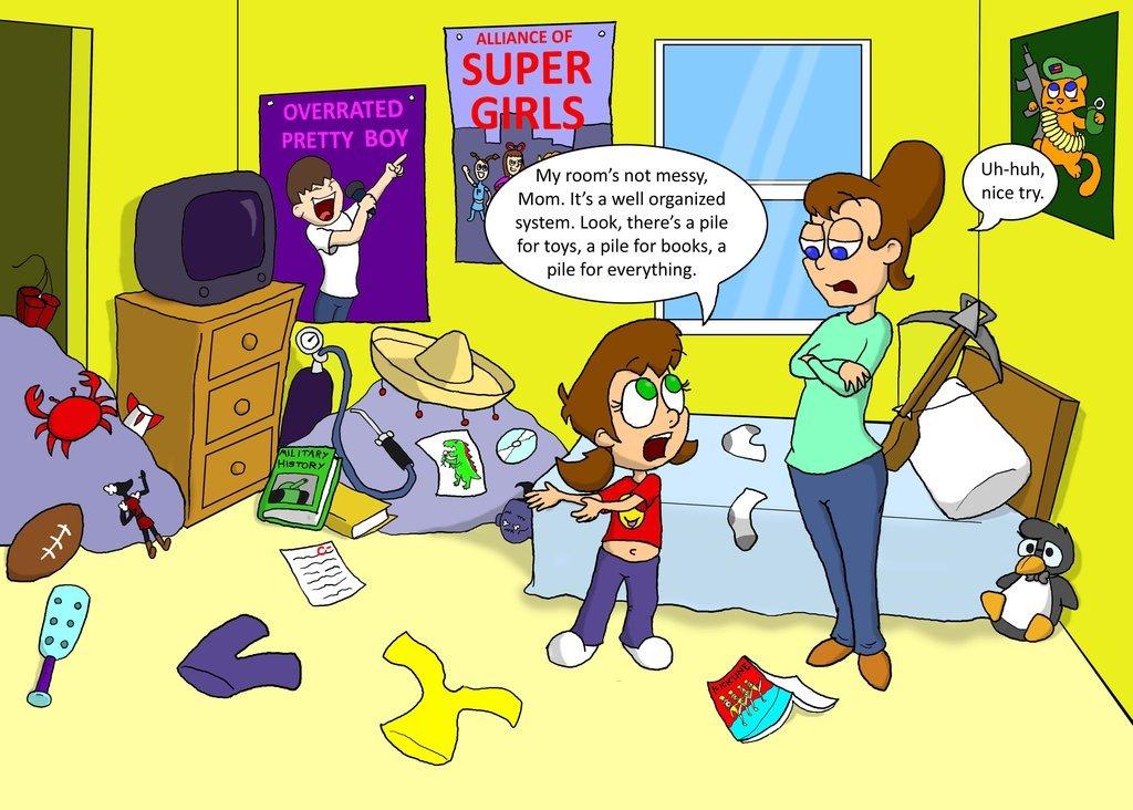 Bedroom clipart unclean #3