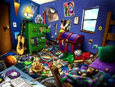 Bedroom clipart unclean #1