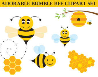 Bees clipart adorable Art Art Whimsical Honey Instant