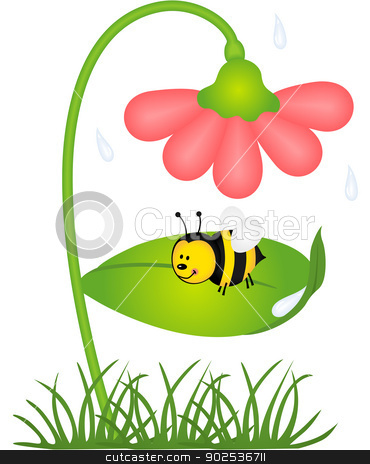 Bees clipart bee flower Clipart And Flowers bees Bees