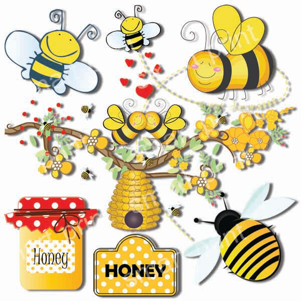 Bee clipart beehive Hive Flowers Branch Clip Clip