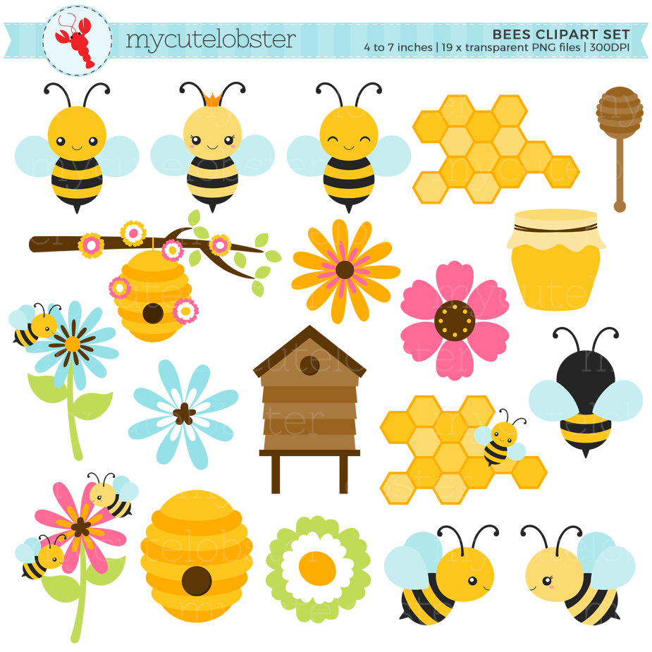 Bee Hive clipart honey bee Hive Etsy Clipart of clipart