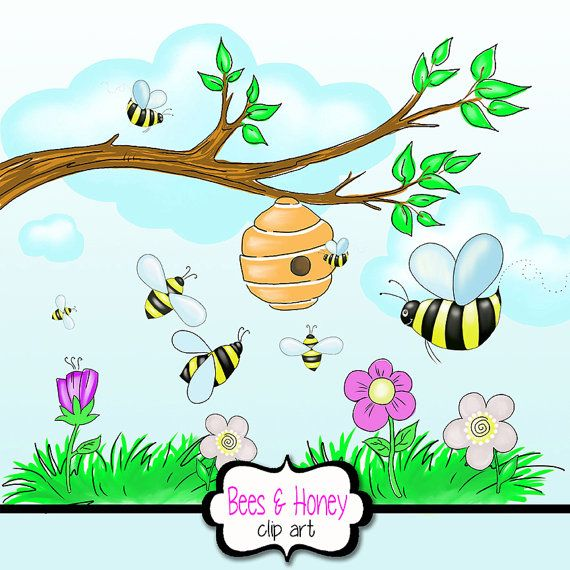 Bee Hive clipart tree clip art Clipart Flowers+ clipart Branch Grass