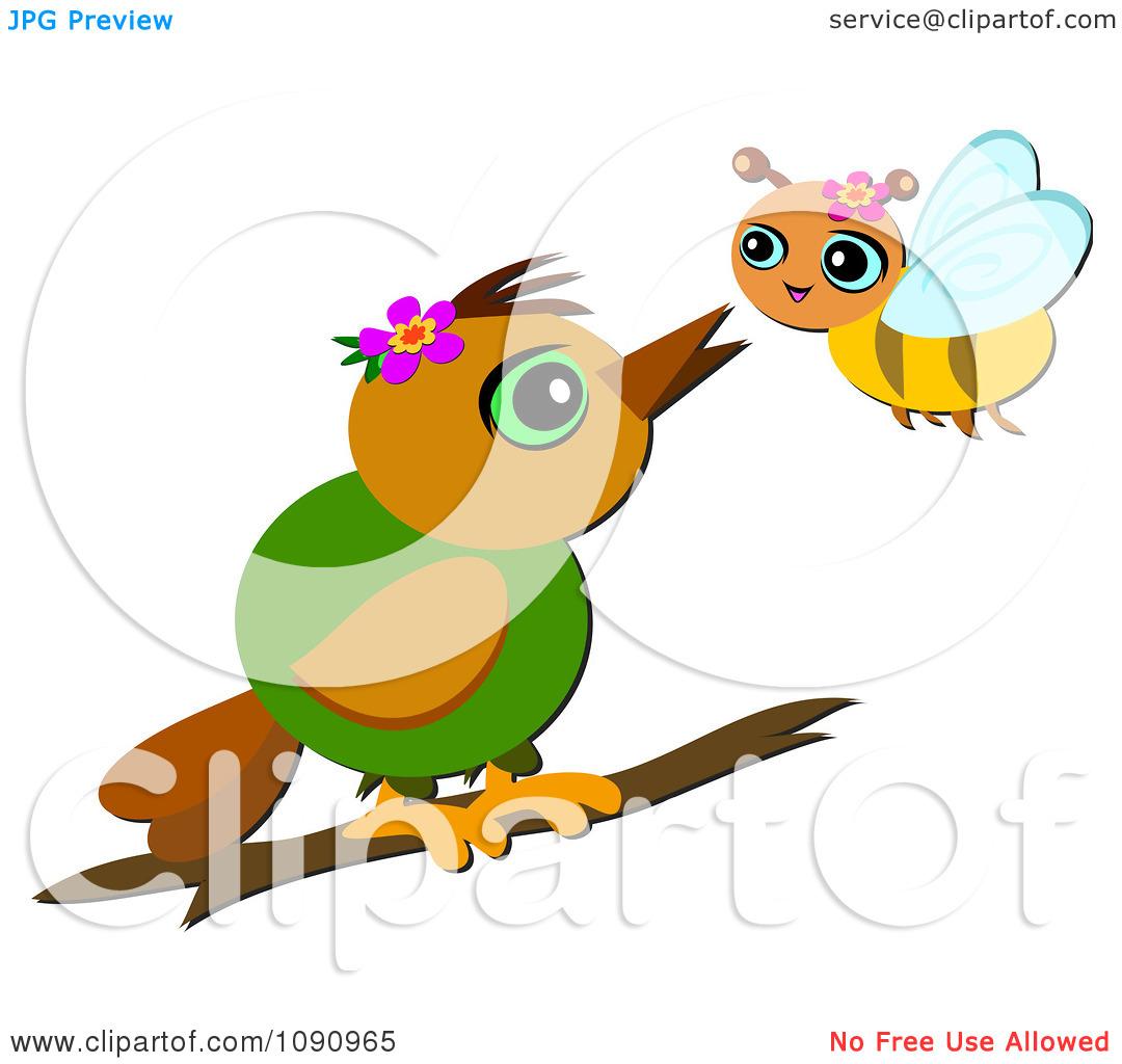 Bird clipart bee Birds bees  and clipart