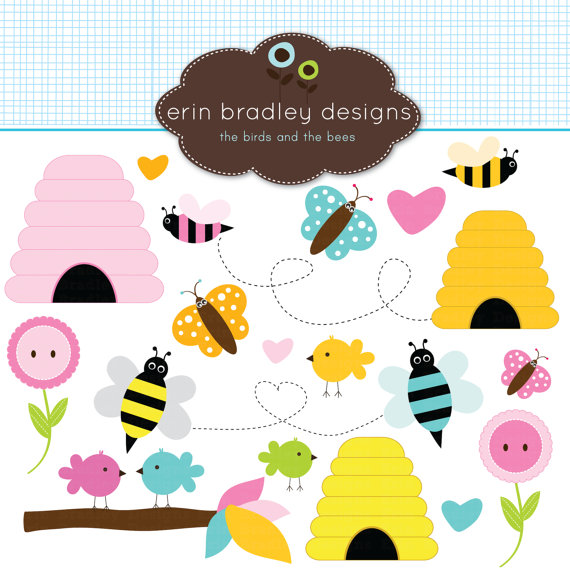 Bird clipart bee Bees Clip Etsy Personal Clip