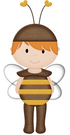 Bees clipart boy Red honey haired bee boy